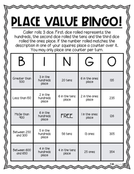 3 Digit Place Value BINGO- No Prep!