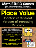 Place Value BINGO Math Game for Intermediate Students - Th