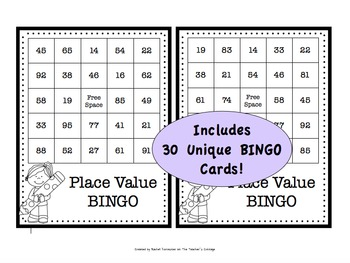 Place Value BINGO using Addition