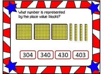 Place Value  BLOCKS - BOOM Cards! (24 Cards)