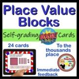 BOOM Place Value  BLOCKS - BOOM Cards! (24 Digital Task Cards)