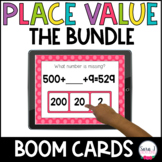 Place Value BOOM CARDS Bundle | Distance Learning