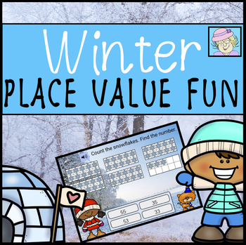 Place Value BOOM CARDS Winter