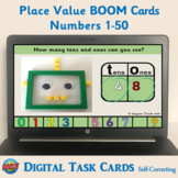 Place Value BOOM Cards (Numbers 1-50) – Digital Task Cards