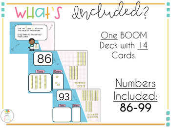 Place Value BOOM Deck Tens and Ones | Numbers 86 thru 99