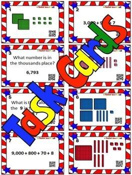 Place Value BUNDLE (Bingo, Task Cards, Worksheets w/ Riddles) Grades 2-3