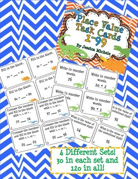 Place Value BUNDLE {Dinosaur Theme}