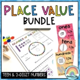 Place Value BUNDLE {Teen & 2-digit Numbers} - 1st Grade