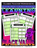 Place Value-Base 10 Blocks-Count Number of 1's & 10's-Grades 1-2 (1st-2nd Grade)