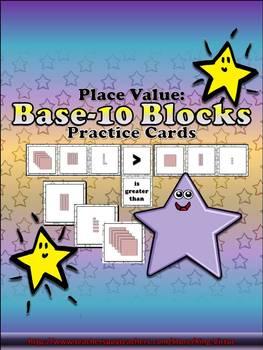 Place Value: Base-10 Blocks Practice Cards - King Virtue