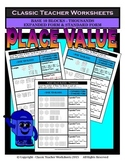 Place Value-Base 10 Blocks-Thousands-Standard & Expanded Form-Gr.3-4/3rd-4th Gr.
