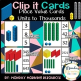 Place Value Base 10 MAB Block Clip it Cards