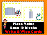 Place Value Base 10 Write & Wipe Cards