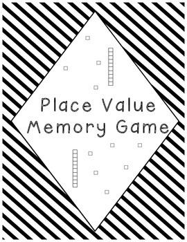 Place Value (Base Blocks) Memory Game