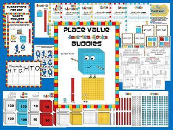 Place Value Base Ten Block Buddies