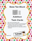 Place Value Base Ten Block and Cubes Addition Task Cards- Adding Tens Center