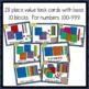 Place Value - Base Ten Blocks - 3 digit - Scoot/Matching activity