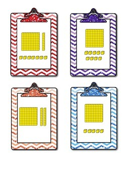 Place Value Base Ten Blocks:  Clip Boards and Hand Mirrors