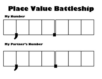 Place Value Battleship