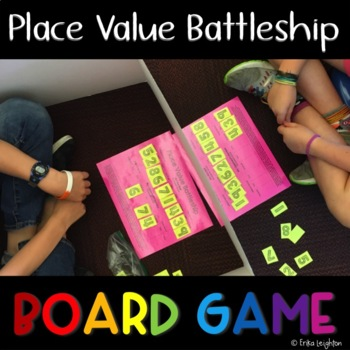 Place Value Battleship 3 Different Game Boards