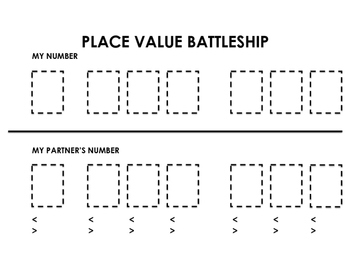 Place Value Battleship Package