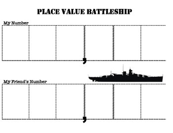 Place Value Battleship Part 2