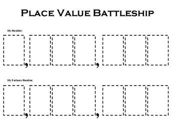 Place Value Battleships