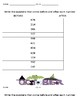 Place Value Before and After Halloween Number Worksheet