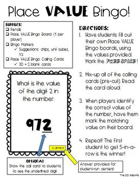 Place Value Bingo!