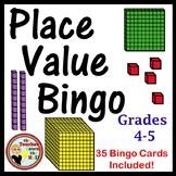 Place Value Bingo - Whole Group Review Activity w/ 35 Bing