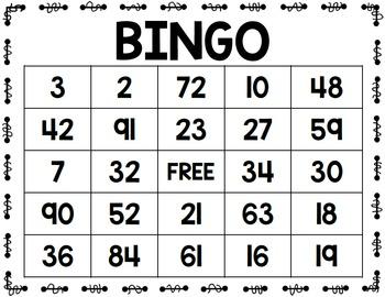 Place Value Bingo- 2 Versions, Full Class Set