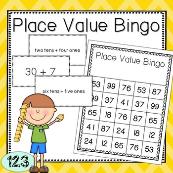 Place Value Bingo Game (two-digit numbers)
