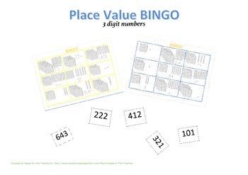 Place Value Bingo 3 Digits/Places
