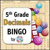5th Grade Decimal Games: 5 Decimal Bingo Games (5.NBT.3, 5.NBT.4)
