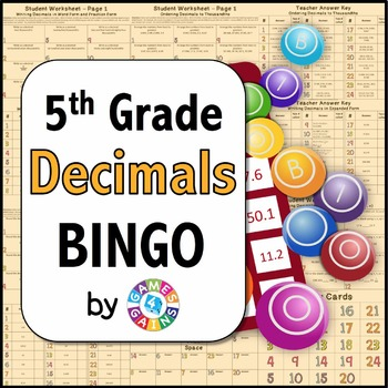 5th Grade Decimal Games {BINGO for 5.NBT.3 and 5.NBT.4}