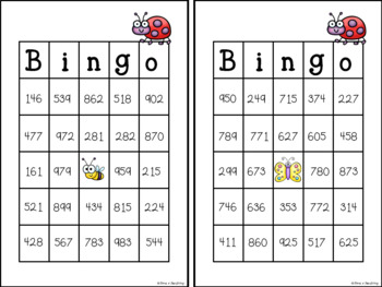 Place Value Bingo: Add and Subtract 10 or 100