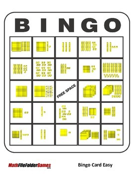 Place Value Bingo Base 10 Blocks {Math Game}