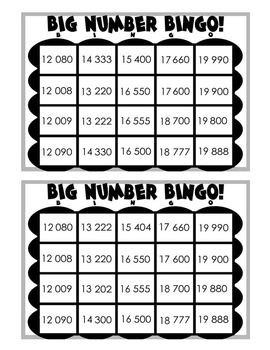 Place Value Bingo: Five Digit Numbers (Metric), 2 Different Games Included