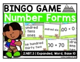2.NBT.3 - Forms of a Number BINGO Game (expanded form, word form, written form)