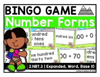 Number Sense Bingo Game {2.NBT.3}