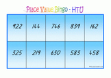 Place Value Bingo - Hundreds Tens & Units