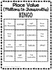 Place Value Bingo - Millions to Thousandths (Standard Form // Word Form)