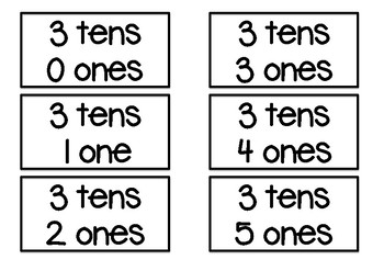 Place Value Bingo (Numbers 10-100)