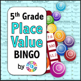 BINGO! 5th Grade Place Value Games: Powers of 10 {5.NBT.1, 5.NBT.2}