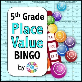 BINGO! 5th Grade Place Value Games: Powers of 10 {5.NBT.1, 5.NBT.2}