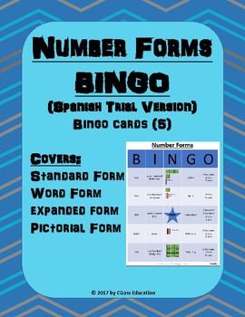 Place Value Bingo! - Spanish Trial Version