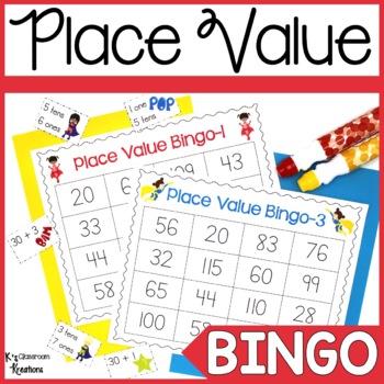 Superhero Place Value Bingo Game