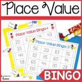 Place Value Bingo Game Superhero Theme