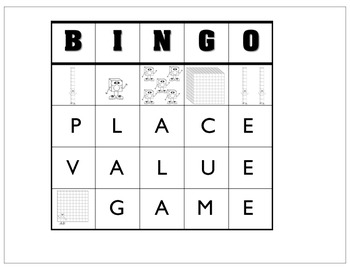 Place Value Bingo and Board Game