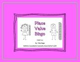 Place Value Bingo for Kindergarten     CC.K.NBT.a.1